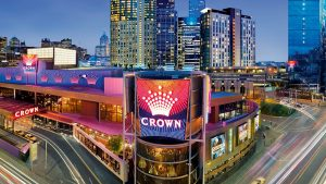 Aerial view of Crown Casino Melbourne